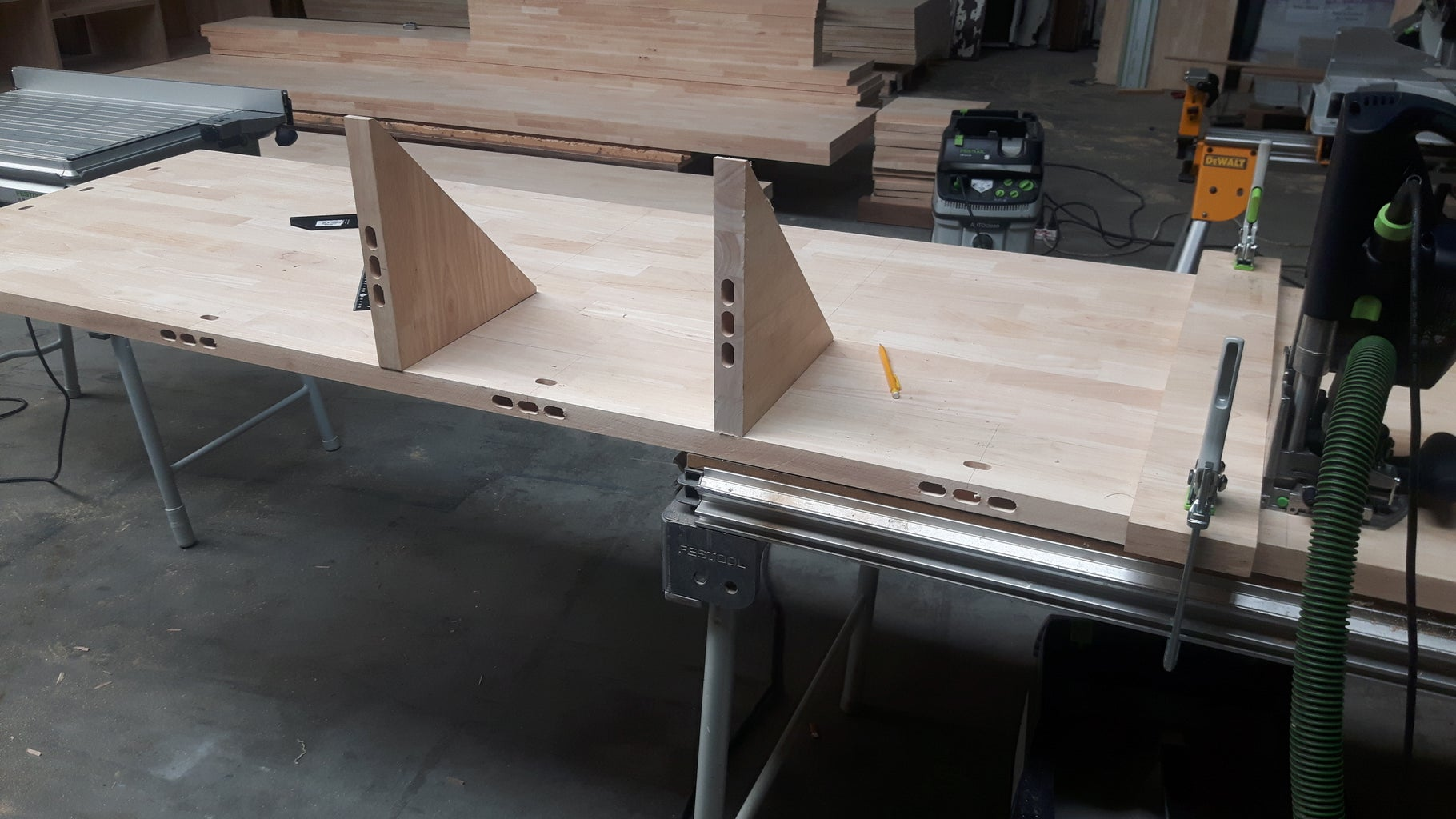 Adding Supports to the Tables and Benches
