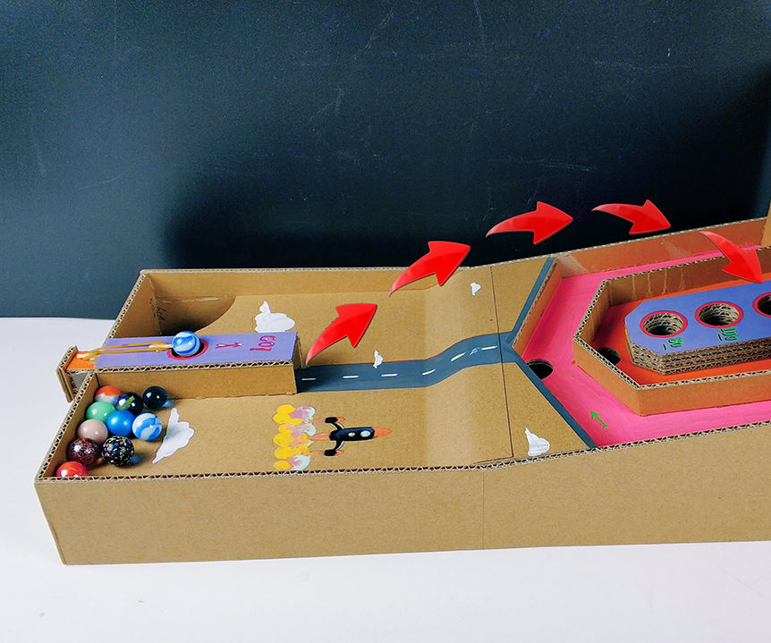 Teach You to Make Lucky Marble Score Toys With Cardboard