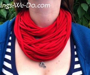 How to Make a Textile Noodle Necklace