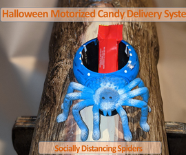 Motorized Spider Halloween Candy Delivery System