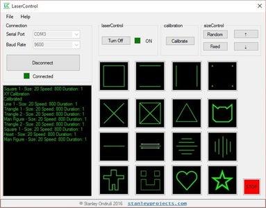 Arduino Laser Projector + Control App
