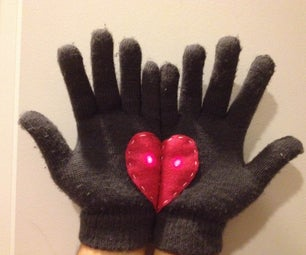 """LED """"Handful of Hearts"""" Gloves"""