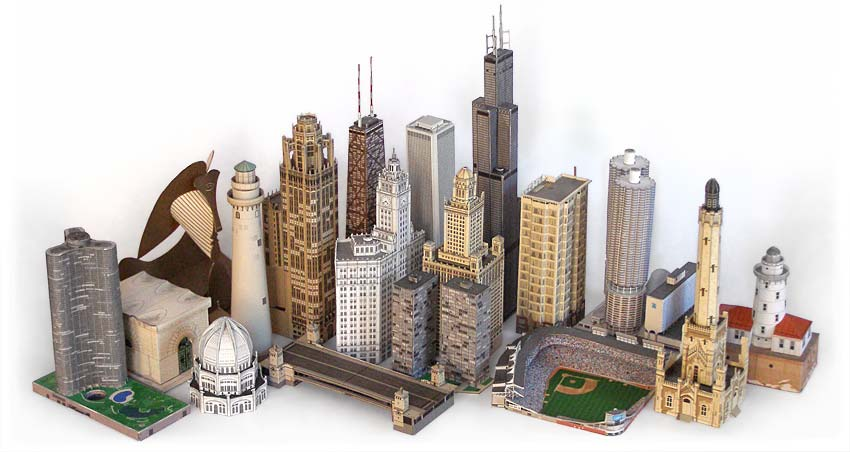 How to make a little city for a movie.