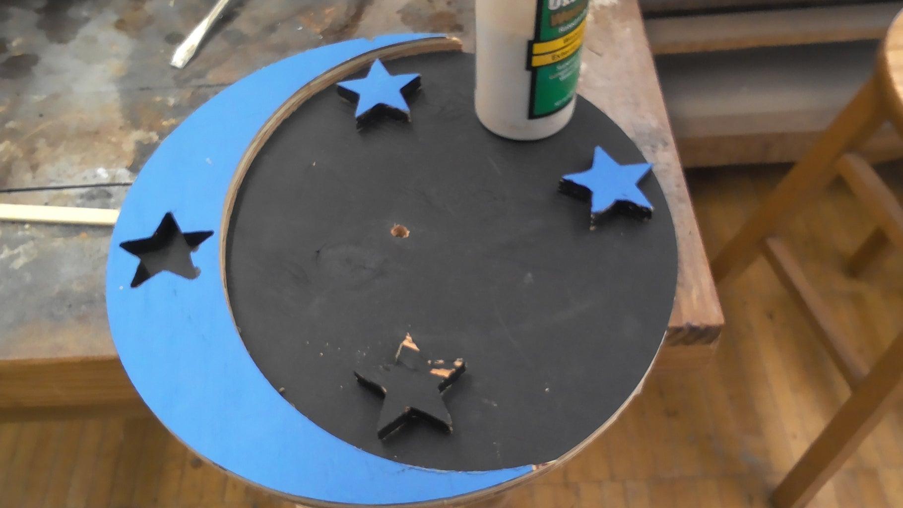 Step 7:  Glue the Stars