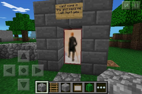how to make a bodyguard in minecraft!