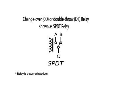 Change-over (CO) or Double-throw (DT) Relay