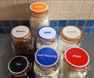 3 d革命制度党nted Kilner Jar Labels Using SCAD