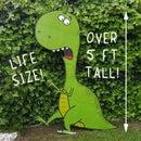 真人大小的纸板恐龙