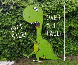 寿命大小的纸板恐龙