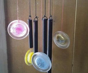 Easy Glass Lids Wind Chime