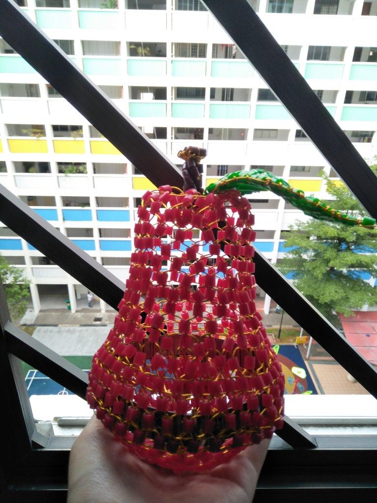 Woven Perler Bead Fruit Basket