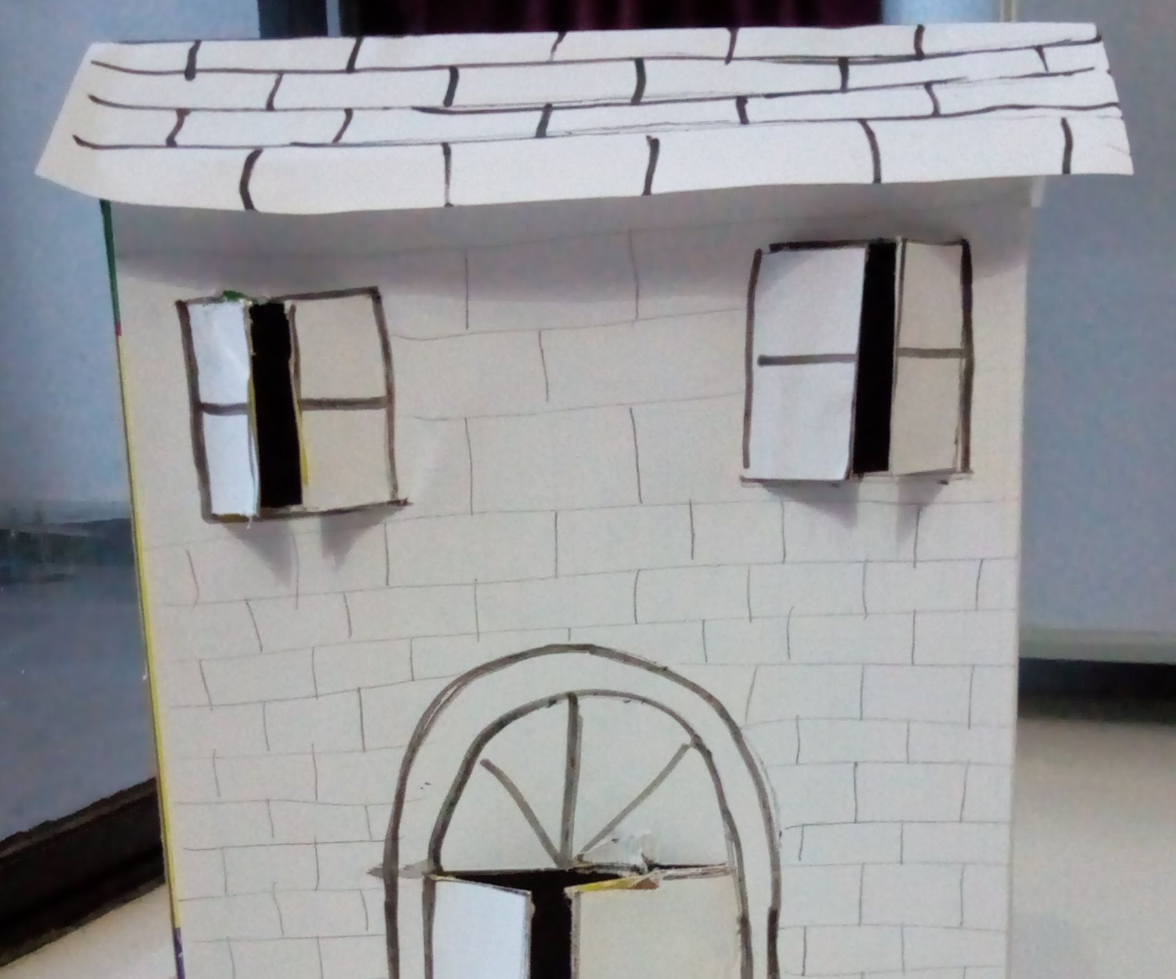 Toy House From Waste Cereal Box