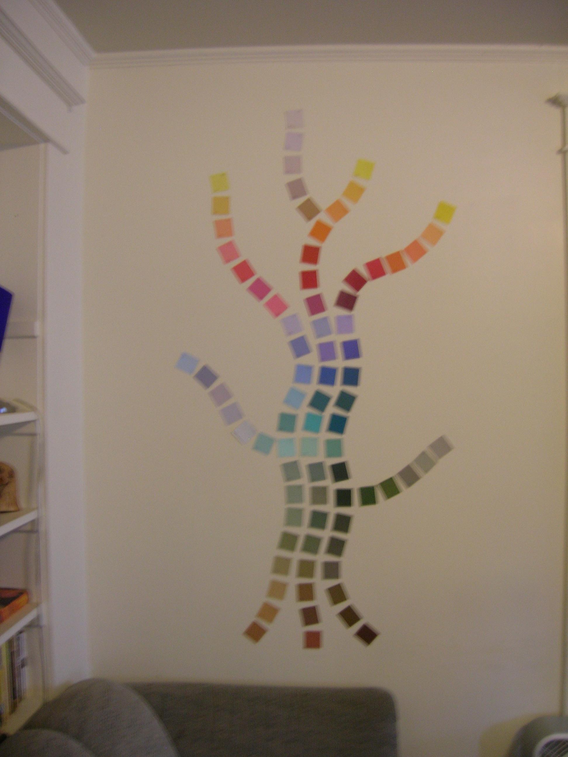 Paint Chip Wall Art