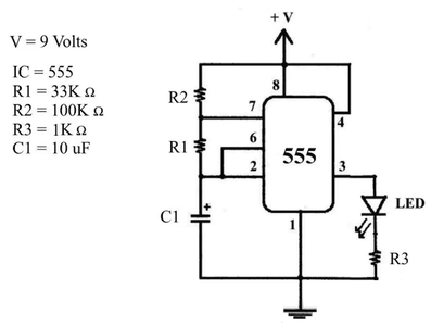 Oscillator for Blinking an LED