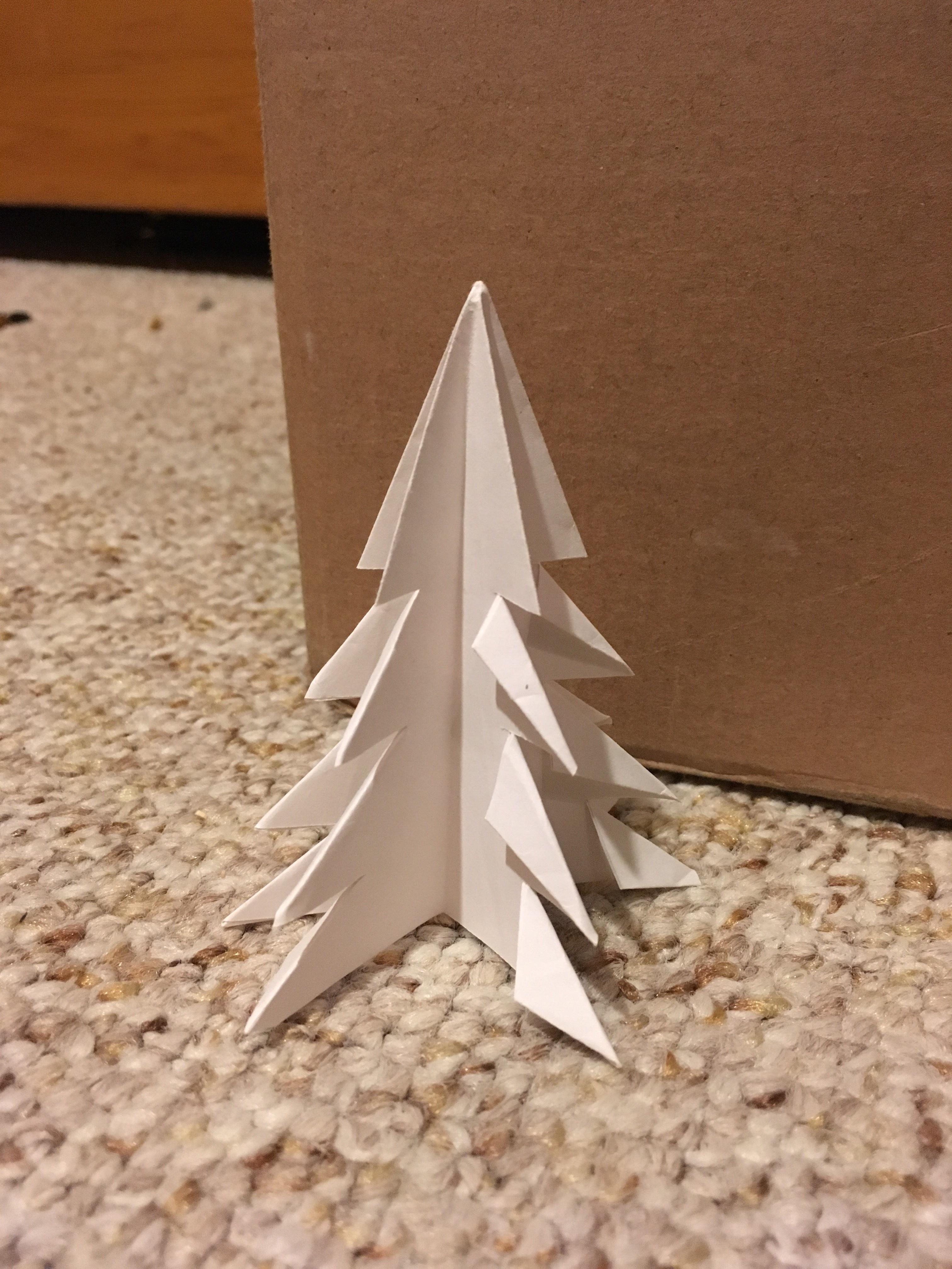 Easy Origami Christmas Tree
