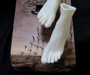 (Pier 9 AiR) the Improbable Mystic (3D Printing Feet and Putting Them on a Bed of Nails)