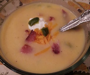 Potato Skins Soup With Roasted Jalapenos (spicy or Not)