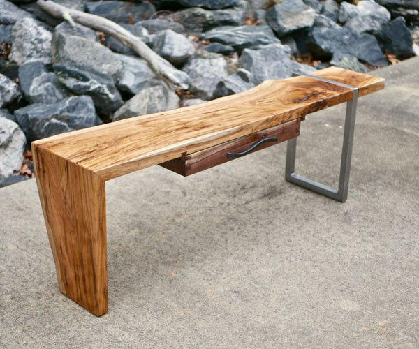 Modern Live Edge Waterfall Coffee Table | How to Build