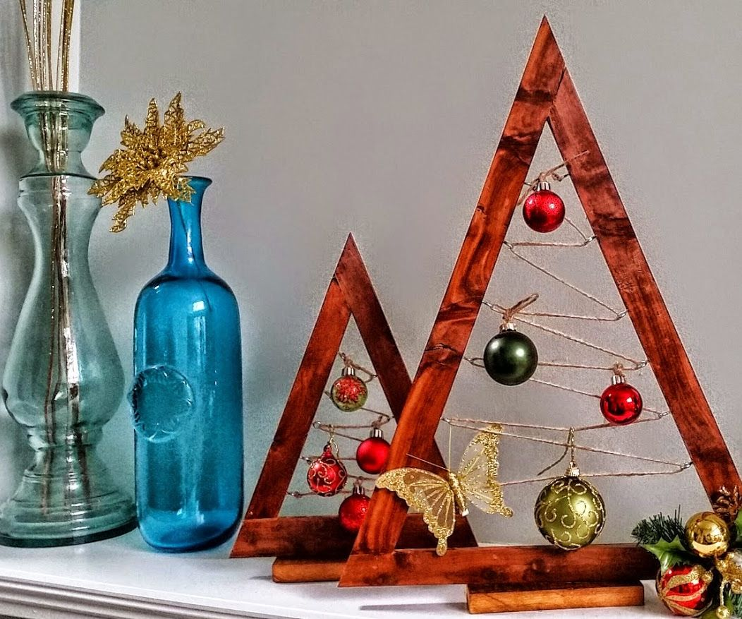 Crate & Barrel Christmas Hack: Wooden Ornament Trees