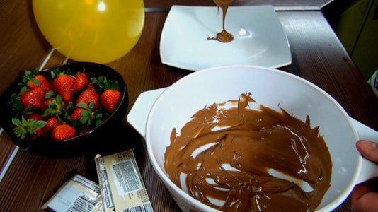 Add a Little Chocolate in the Center of Plate