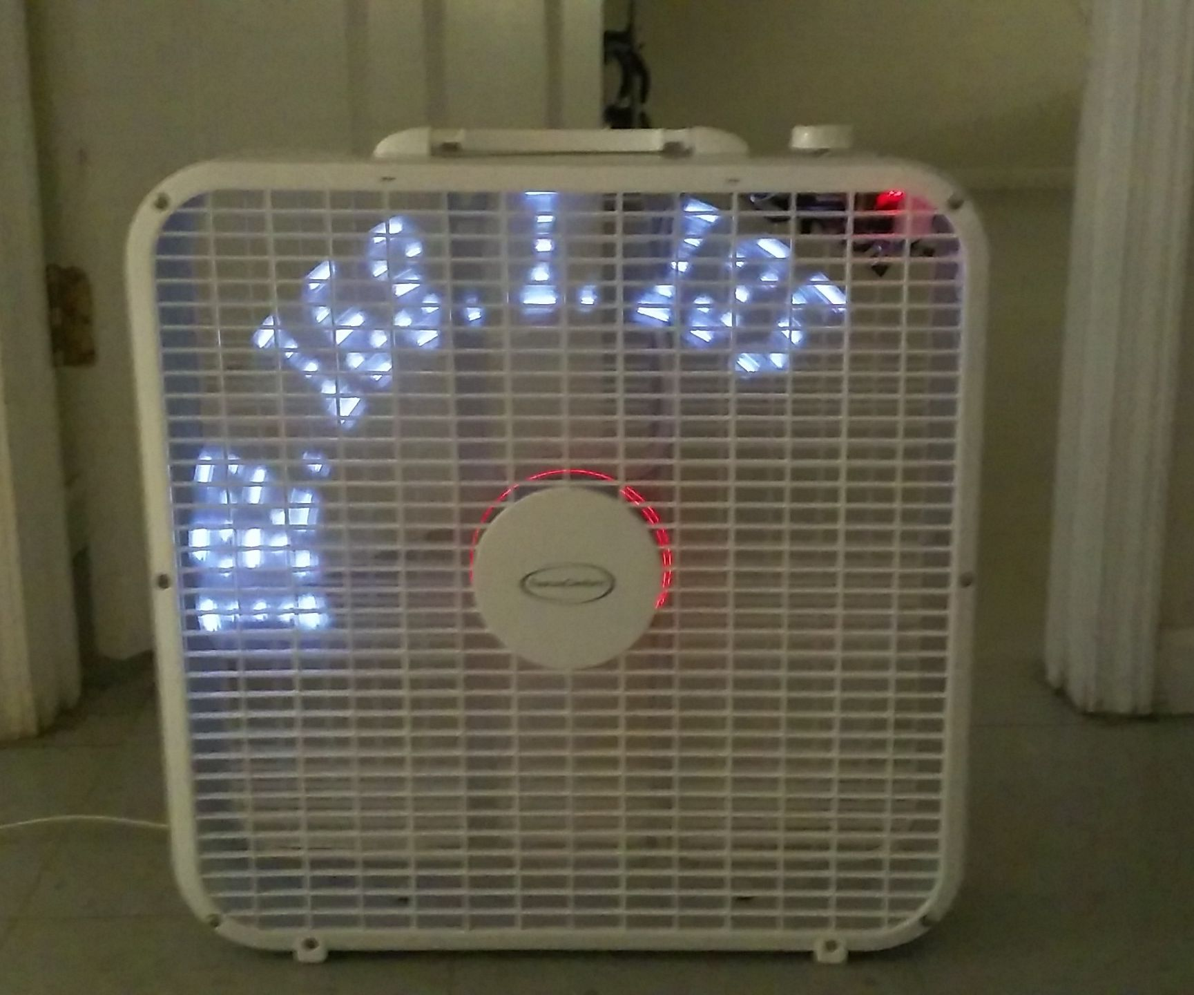 ESP8266 POV Fan With Clock and Web Page Text Update