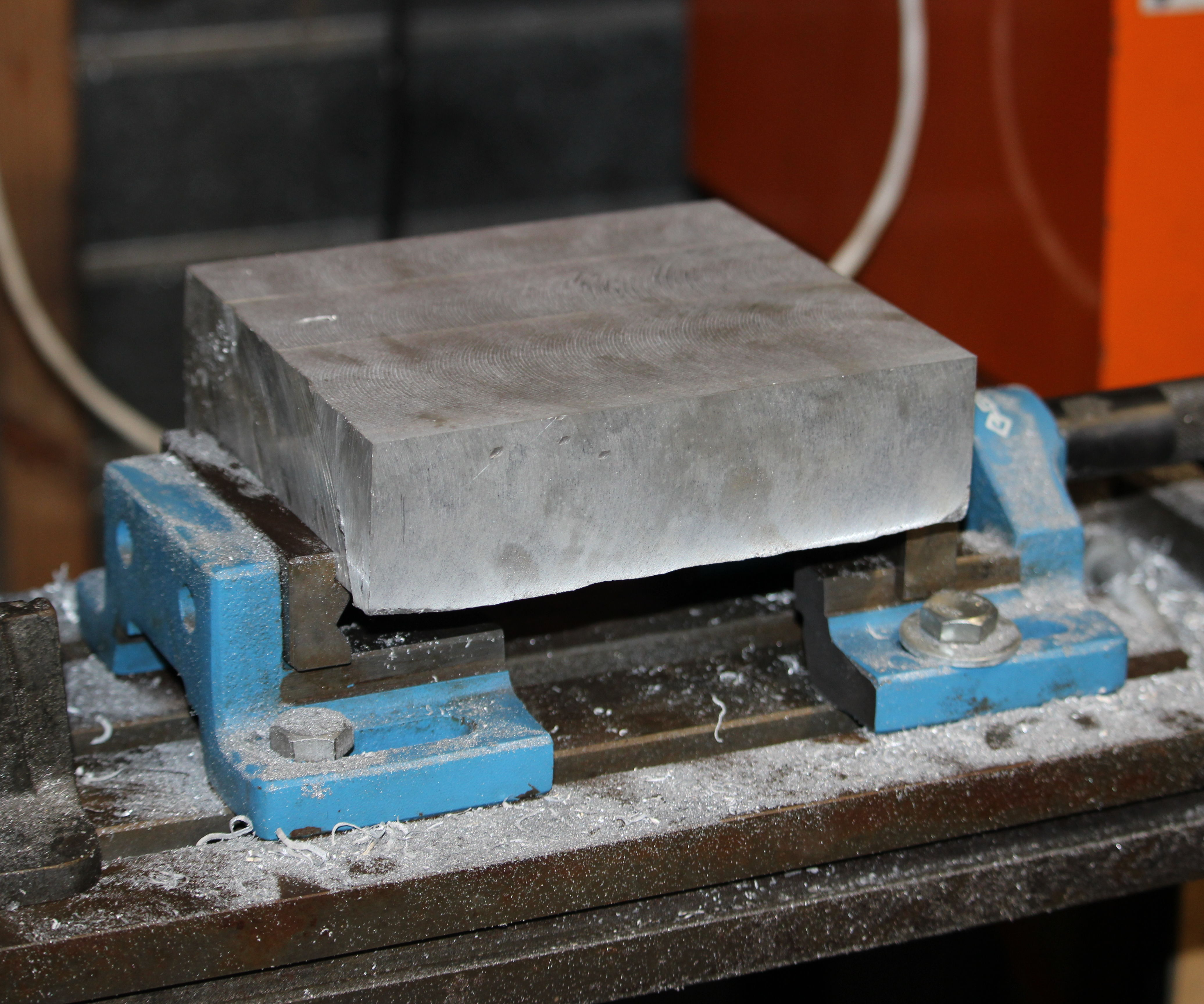 Holding large stock; Drill Vice Modification