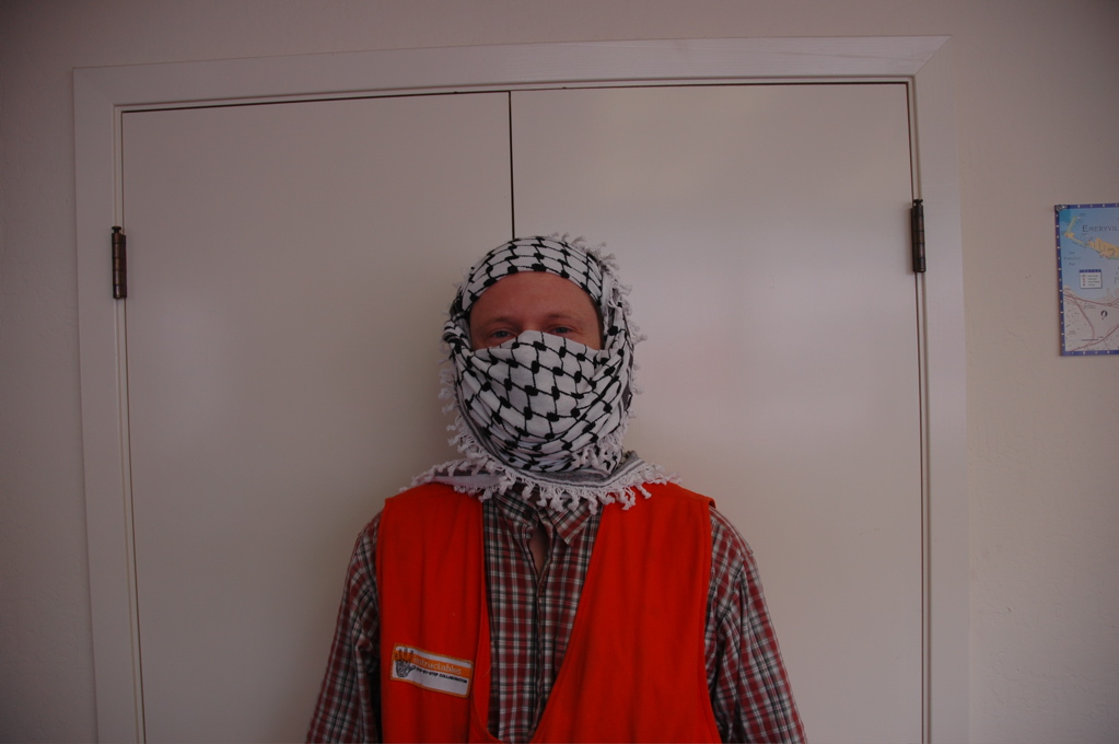 How to wrap a Keffiyeh