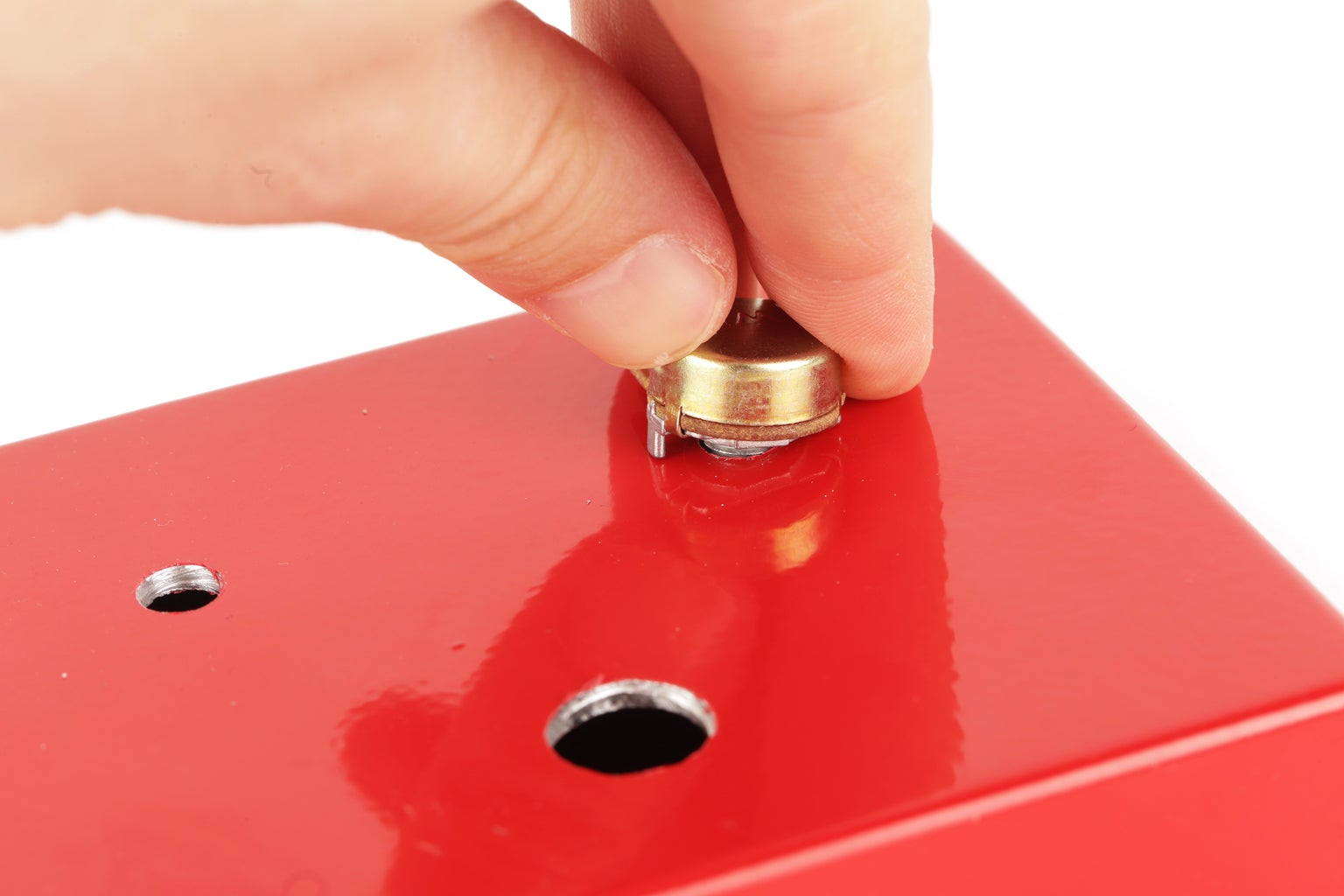 Potentiometer Tab Holes