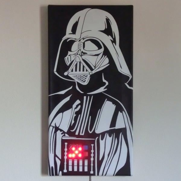 Talking Darth Vader Binary Clock