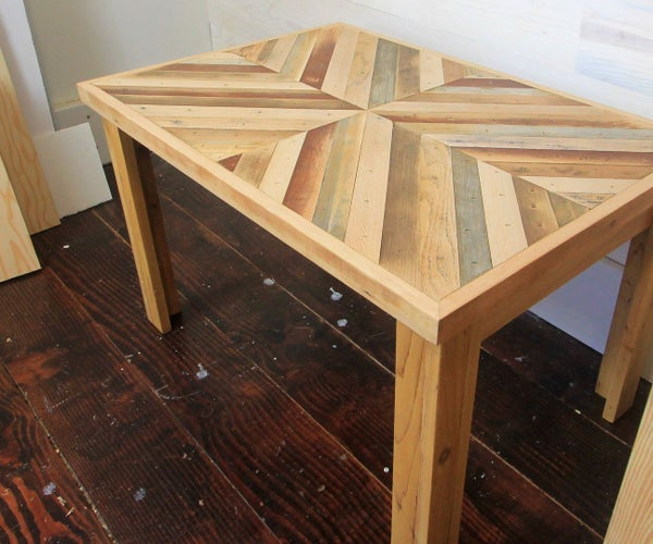 DIY Rustic Style Coffee Table With Reclaimed Wood