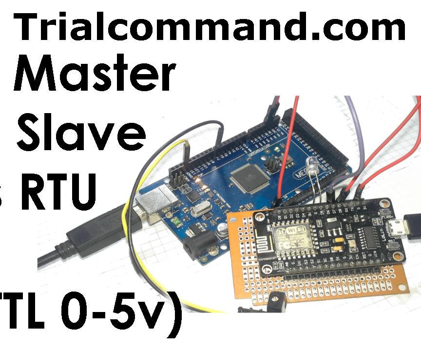 Arduino Master & ESP8266 Slave Modbus RTU (TTL)