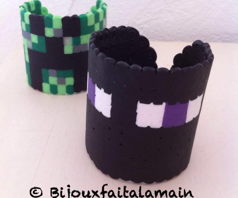 How to Make Minecraft Bracelets Using HAMA Beads