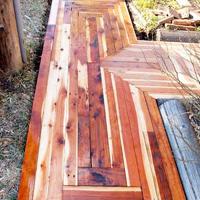 Recycled Lumber Sidewalk