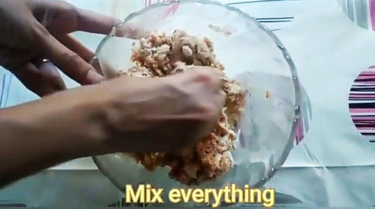 Add Oil and Mix Everything