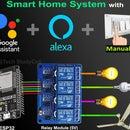 ESP32 Alexa Google Assistant Control Relays  - IoT Project 2021