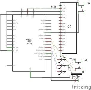 Diagrama Esquemático Del Circuito Electrónico
