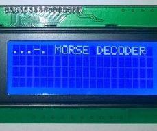 Arduino Morse Decoder