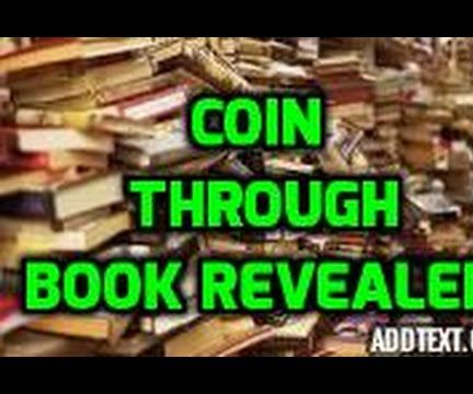 how to penetrate a coin through a book! magic tricks revealed!