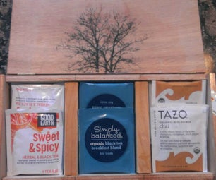 Upcycled Tea Bag Organizer