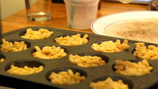 Cook and Partially Freeze the Mac and Cheese