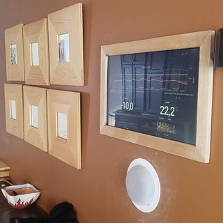 Recessed Wall Mount for Rasberry Pi Google Calendar