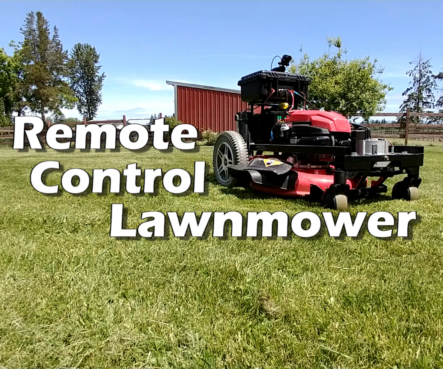 Remote Control Lawn Mower