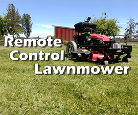 Remote Control Lawn Mower