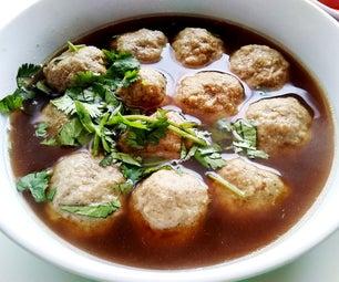 Indonesian Bakso (Beef Surimi Meatballs)