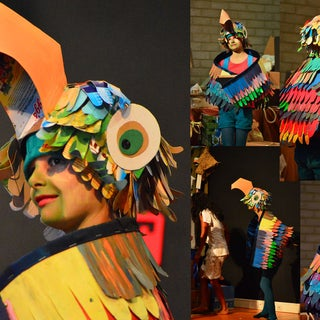 Makedo Parrot Costume: Wearable Bird Wings and Parrot Hat