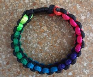 Tie-dye Colourful Paracord Bracelet