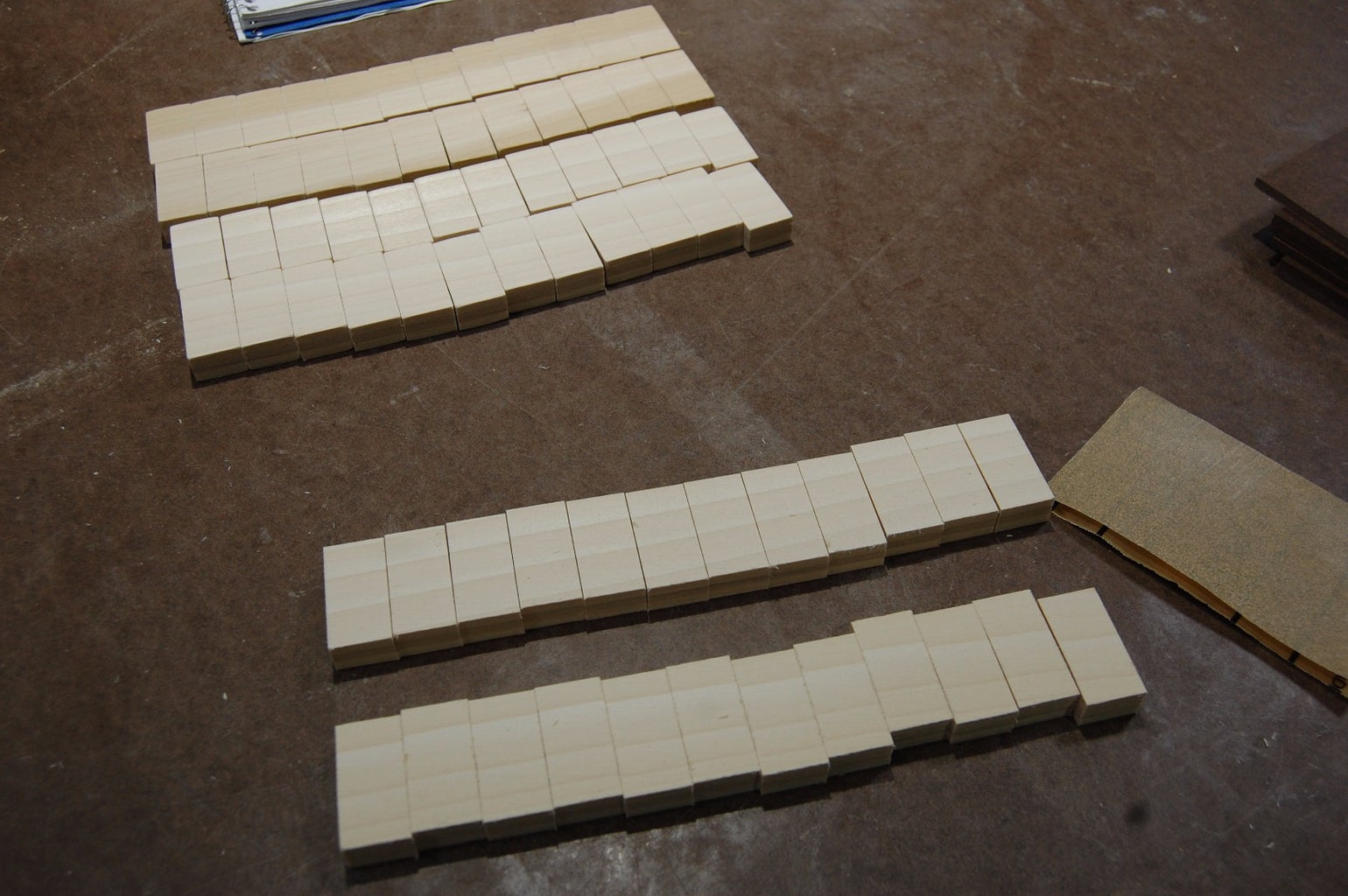 Sanding and Numbering the Tiles