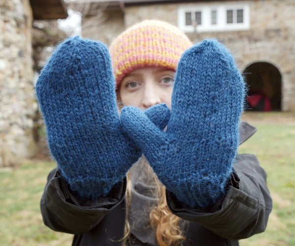 Easy Knit Mittens