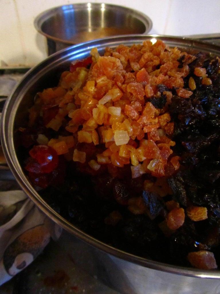 Making the Cake: Fruit Mix