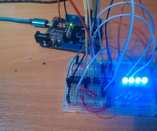 Counter-based Port Expansion for Arduino, ESP, Etc From Scrap.